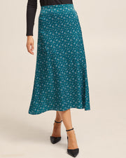 Postpartum Midi Skirt - Evergreen