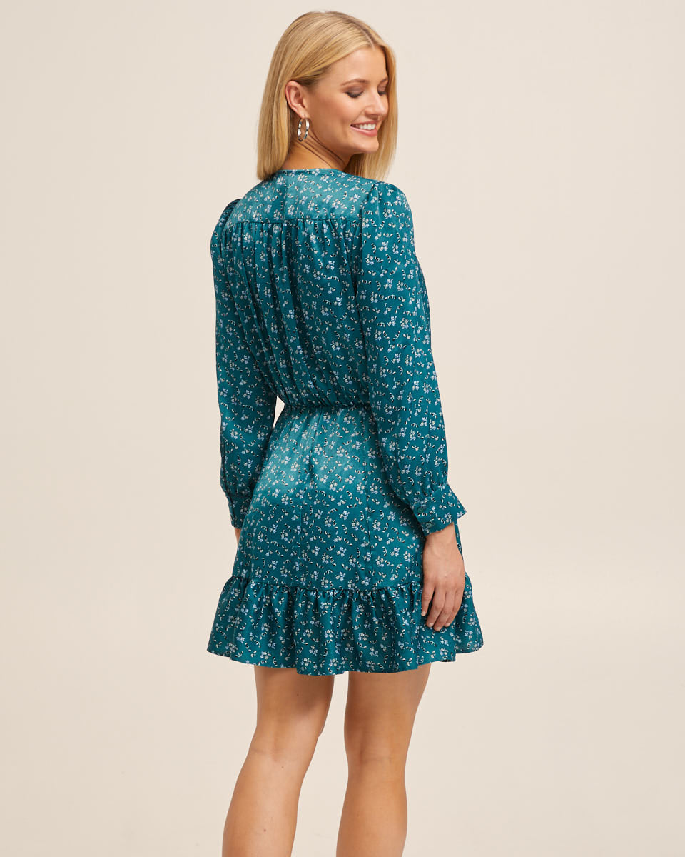 Nursing Wrap Short Dress - Evergreen