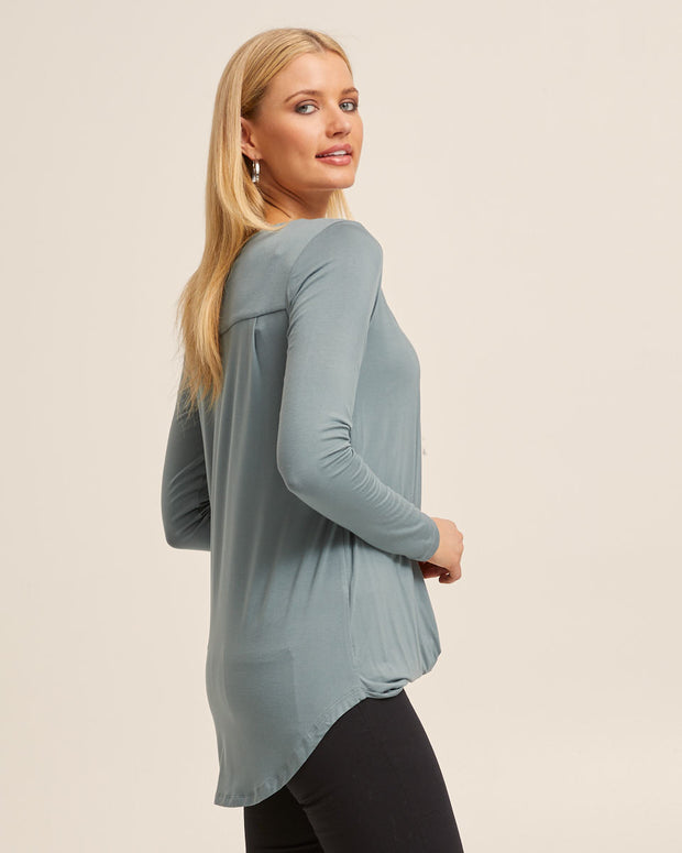 Sage Bamboo Twist Nursing Top