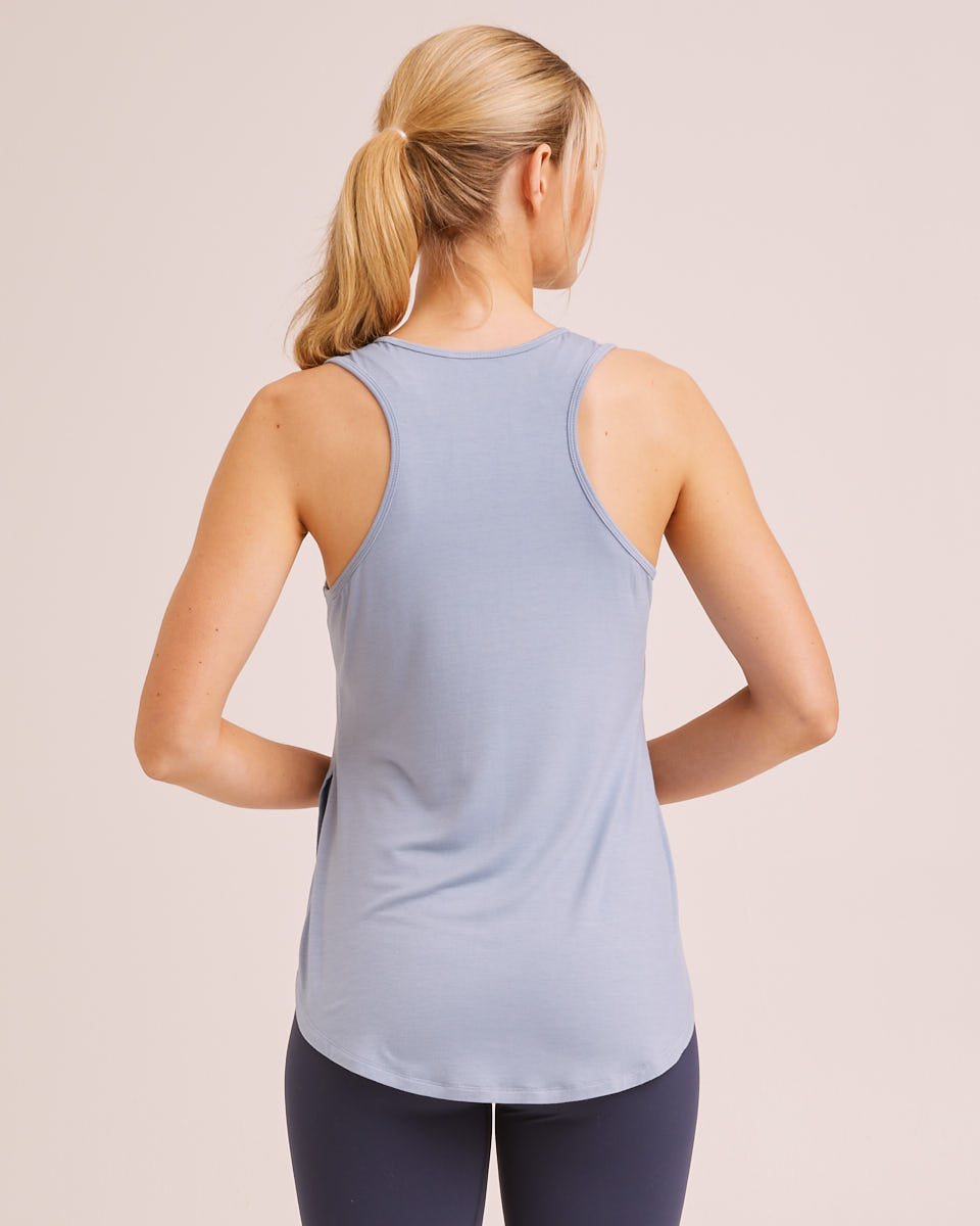 Active Curve Hem Nursing Tank - Powder Blue