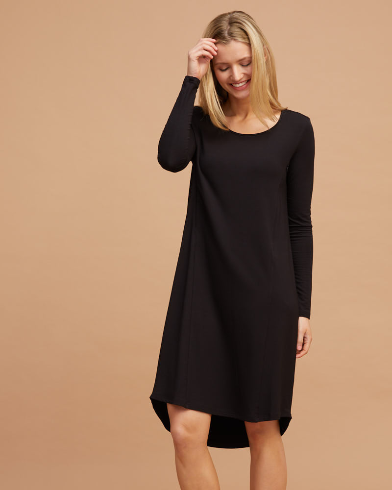 Breastfeeding T-Shirt Dress - Black
