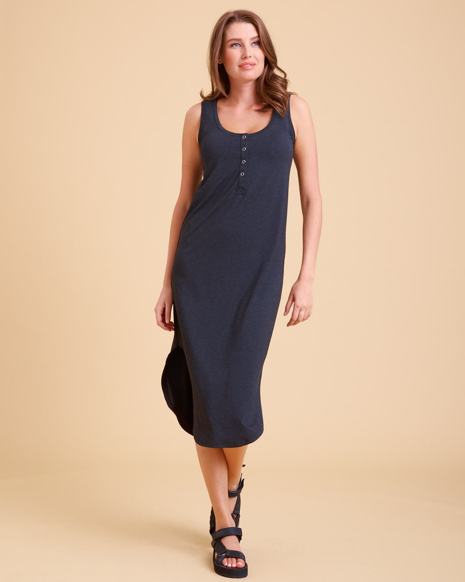 Nursing Tank Dress - Black Marle