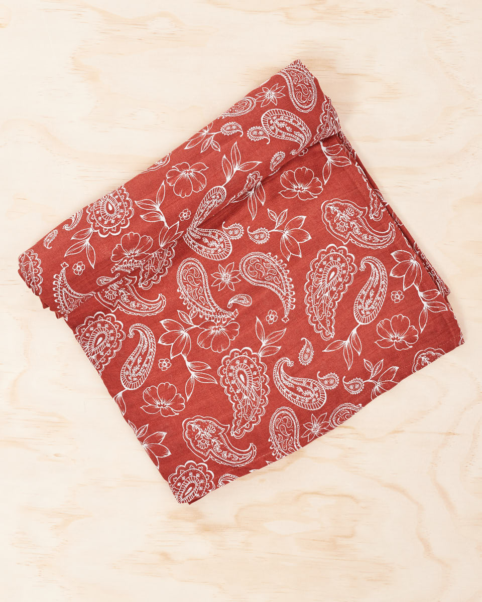 Organic Cotton / Bamboo Swaddle - Rust Paisley