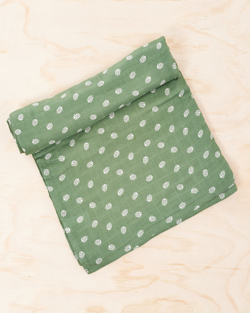 Organic Cotton / Bamboo Swaddle - Sage