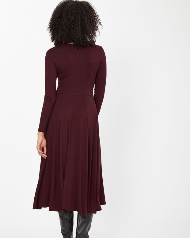 Plum Knot Front Nursing Dress from Peachymama - 13