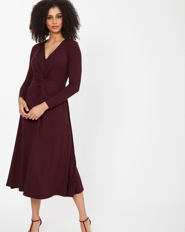 Plum Knot Front Nursing Dress from Peachymama - 14