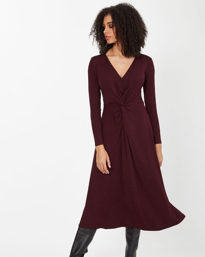 Plum Knot Front Nursing Dress from Peachymama - 1