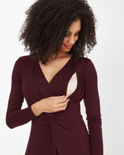 Plum Knot Front Nursing Dress from Peachymama - 3