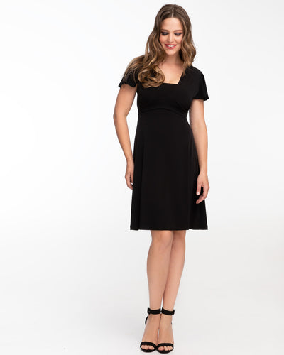 Black Vavavoom Nursing Dress by Peachymama - Denisa 2