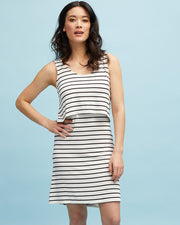 White & Black Stripe Singlet Dress
