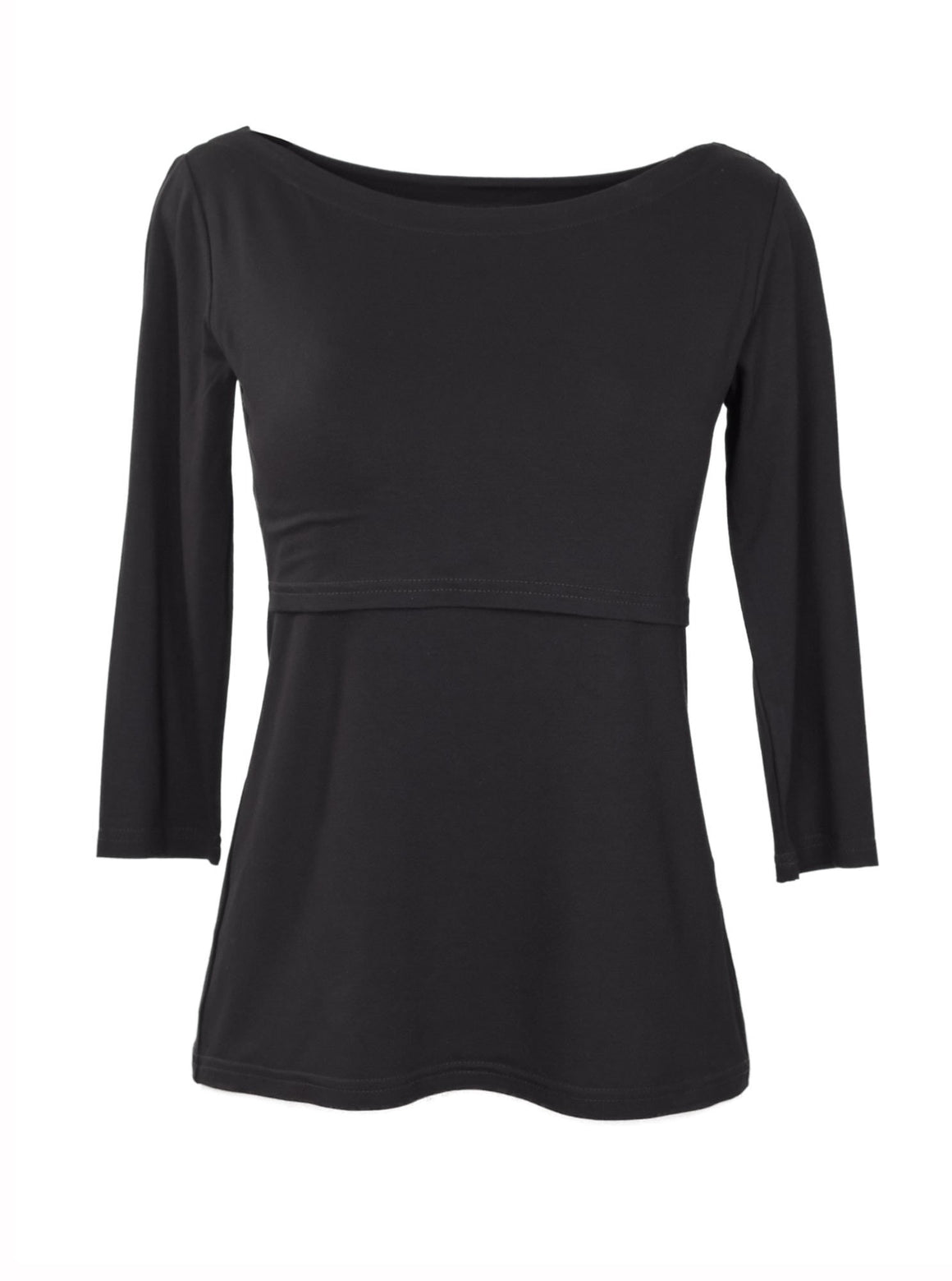 Basic Black Long Sleeve Nursing Top