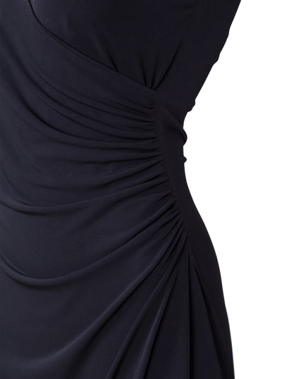 Nursing dress black flamenco by Peachymama - detail
