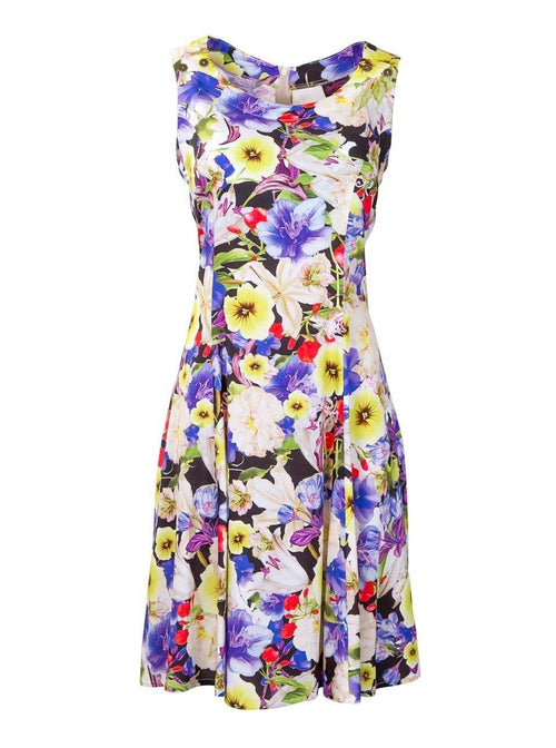 Breastfeeding Dress - Purple Floral Pinafore