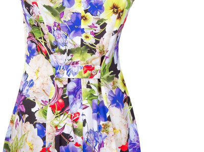 Breastfeeding Dress - Purple Floral Pinafore - Detail2