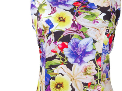 Breastfeeding Dress - Purple Floral Pinafore - Detail1