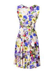 Breastfeeding Dress - Purple Floral Pinafore - Back