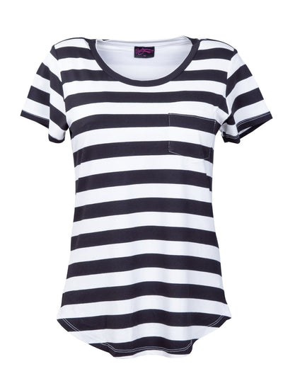 Black and White striped breastfeeding tshirt