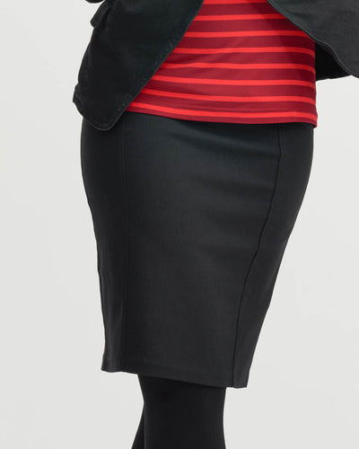 Post Maternity Black stretch skirt with high elastic waist by Peachymama
