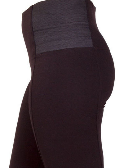 Every day leggings with high waist and elastic panels - Side