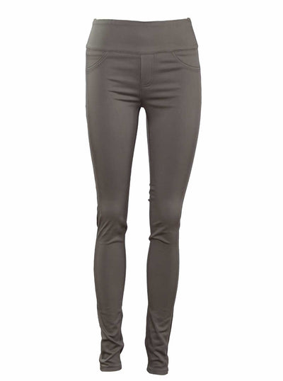 Khaki High Waisted Stretch Jeans - Postpartum Pants