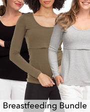 Peachymama longsleeve breastfeeding tops for winter - discount sale bundle