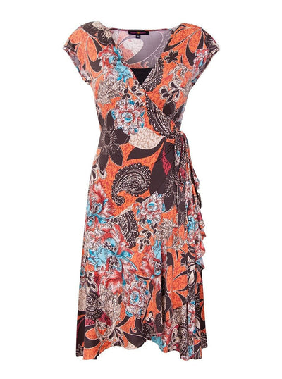 Floral Flamenco Nursing Wrap Dress