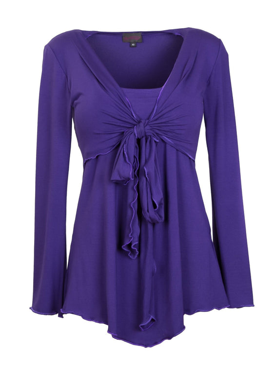 Purple Passion Tie Front Breastfeeding Top