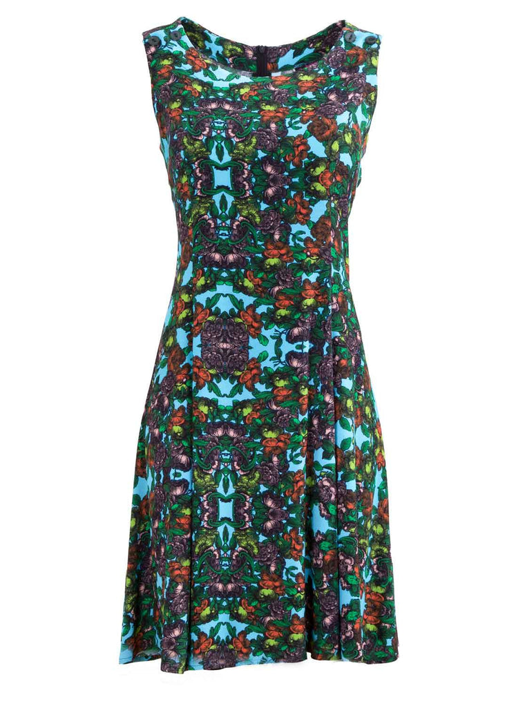 Retro Floral Breastfeeding Dress