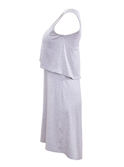 Breastfeeding singlet dress - grey - Side