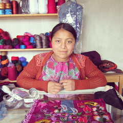 Ceci in Chiapas at her mother's notions store