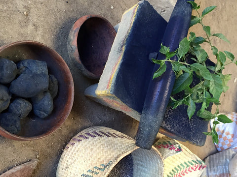 natural indigo dye powder in Oaxaca Mexico