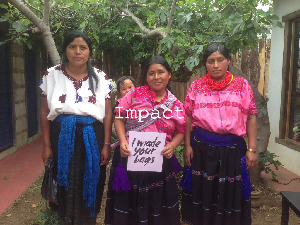 three women artisans from Catrinka in Chiapas