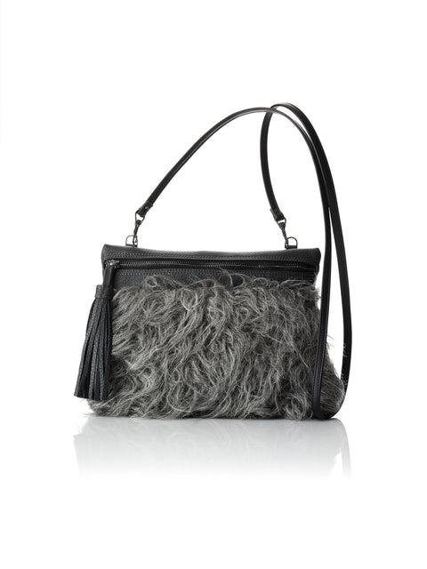 Angelica Chamula Wool Crossbody / Clutch (Gray)