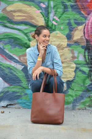Paulina Classic Leather Tote