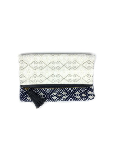 María Elena Clutch (navy / white)