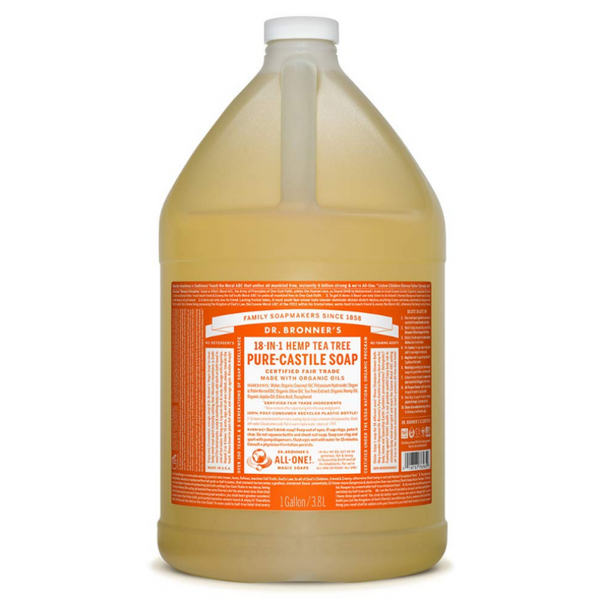 Dr Bronner's All One Hemp Tea Tree Pure Castile Soap with Organic Oils - 1 Gallon