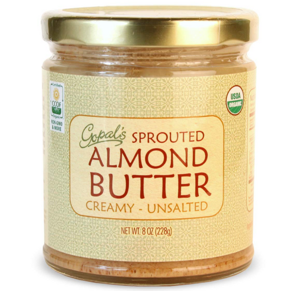 Gopal's Almond Butter Organic Raw Sprouted Creamy Unsalted Nut Protein