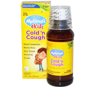Hyland Homeopathy Cold 'N Cough 4 Kids Natural Relief Health Formula