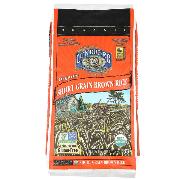 Lundberg Organic Short Grain Brown Rice 25 lbs