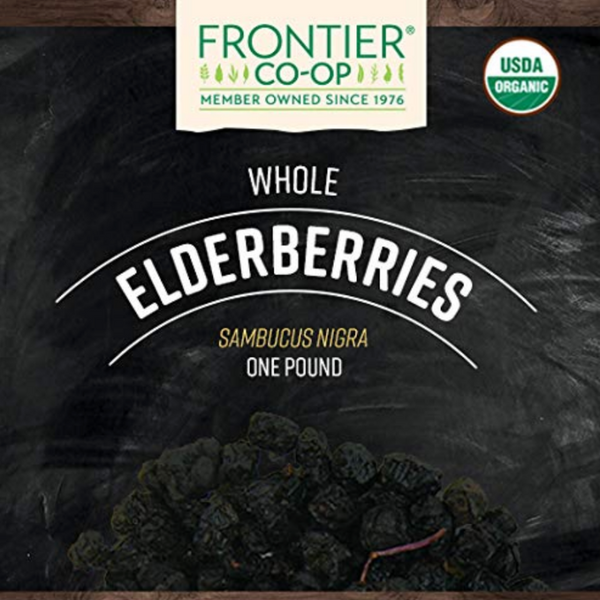 Frontier Black Elderberries Organic Sambucus Nigra Dried Fruit 1 Lb