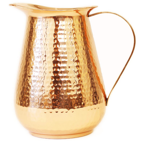 Green Eos Handcrafted 100% Pure Copper Ayruveda Water Pitcher 73oz