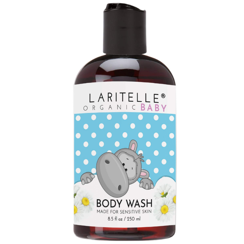 Laritelle Organic Baby Body Wash Unscented Cleanser For Sensitive Skin