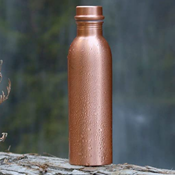 Berigora Copper Water Bottle 100% Pure Ayurvedic Drinking Vessel 30oz