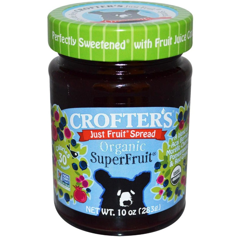 Crofters Super Fruit Spread Jelly Jam Preserve Substitute (6x10oz)