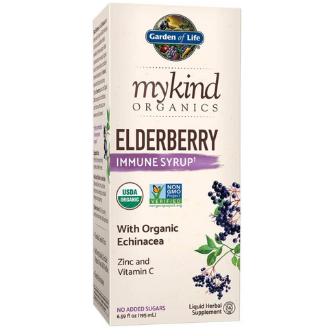 Garden Of Life Elderberry Immune Syrup Organic Sambucus Supplement
