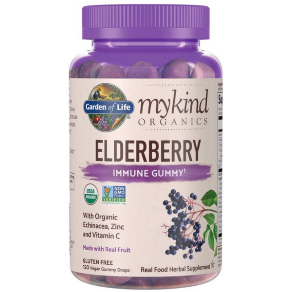 Garden Of Life Elderberry Immune Gummy Organic Sambucus Supplement