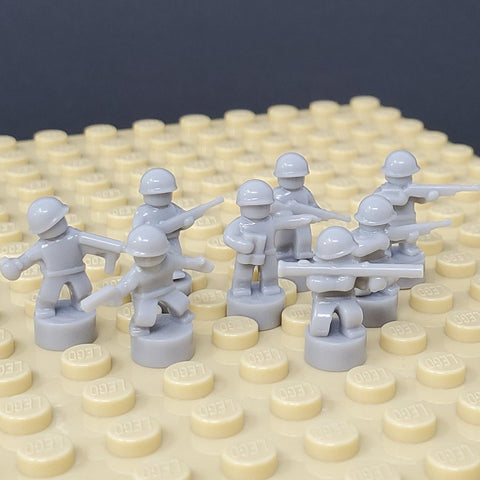 Nano Soldier Figures - Light Bluish Grey