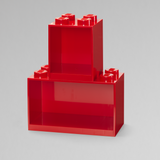 LEGO® Brick Shelf Set 2 PCS - Red