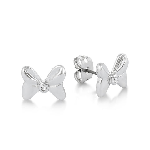 Minnie Mouse Crystal Bow Studs WG