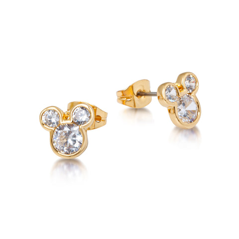 Mickey Mouse Crystal Stud Earrings YG